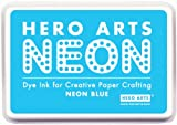 #4: Hero Arts Rubber Stamps Neon Ink Stamp Pad, Blue