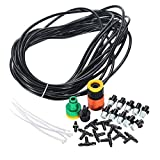 Micro Drip Irrigation Kit Plants Garden Watering System Automatic Garden Hose Kits Connector Adjustable Drip Nozzle Cooling : C-5M