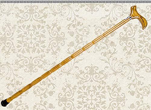 �lterer hölzerner Spazierstockwanderer des hölzernen Stockes (Color : Yellow) ()