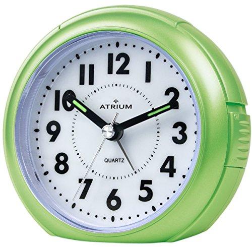 ATRIUM Wecker analog grün ohne Ticken, mit Licht und Snooze A240-3