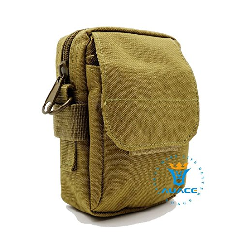 Multifunktions Survival Gear Tactical Beutel MOLLE Beutel Messenger Bag, Outdoor Camping Schultertasche Taille-Tasche Werkzeugtasche Travel Pouch KH