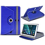 (Blue) PolaTab Elite Q10.1 [10.1 inch ] Case [Stand Cover] for PolaTab Elite Q10.1 [10.1 inch ] Tablet PC Case Cover Tablet [Stand Cover] Durable Synthetic PU Leather 60 Roatating cover Case [Stand Cover] with 4 springs by i- Tronixs