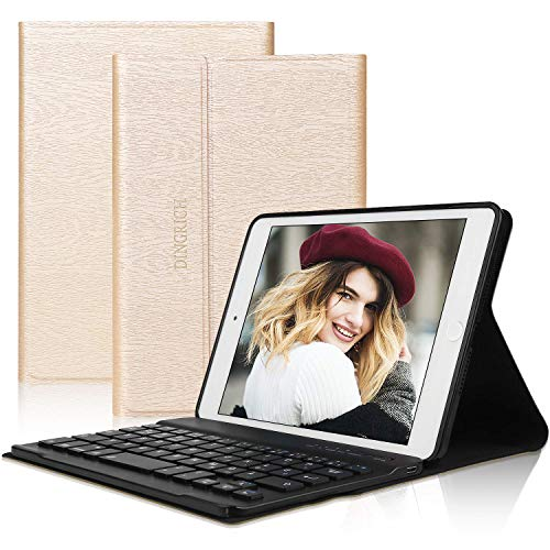 D DINGRICH Tastatur Hülle für ipad Mini 5, ipad Mini 4, ipad Mini 3, ipad Mini 2, ipad Mini 1- ipad mini case- Wireless Bluetooth Tastatur- QWERTZ- Magnetisch Schlaf/Wach- iPad 7.9 Inch Tastatur Hülle - Mini Das Tastaturen Ipad Für