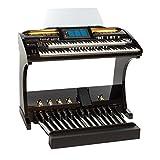 Orgel SONIC OAX700 BK Schwarz hochglanz inkl. 25-Tastenpedal und Sitzbank