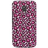 Motorola Moto G2 Hülle Premium Case Schutz Cover Leo Pink Animal Print