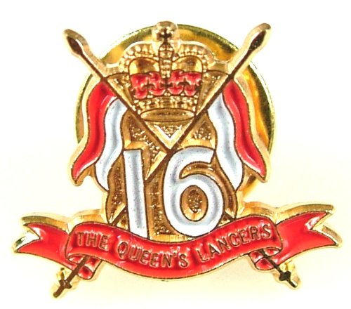 16th / 5th QRL Queens Royal Lancers Lapel Pin Badge
