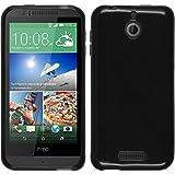 PhoneNatic Case für HTC Desire 510 Hülle Silikon schwarz transparent + 2 Schutzfolien