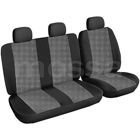 ELEGANCE (E2) (totalmente a medida) - Juego de fundas de asientos a: Ford Transit VI BUS (3-plazas) - (2006-….)