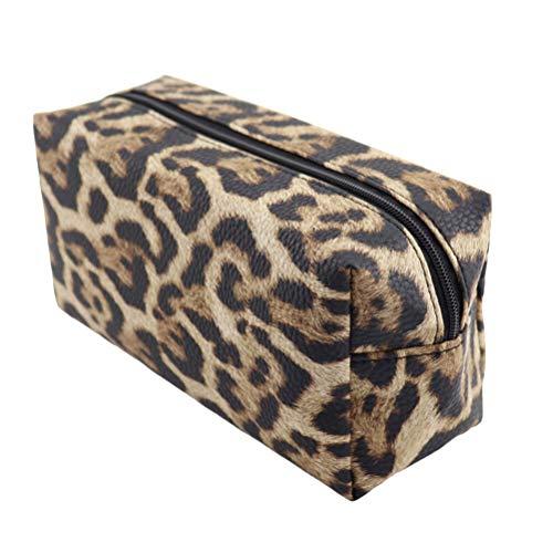 Lurrose 1pc Bolsa cosméticos PU Estampado