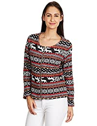MARTINI Women Black Aztec Print Winter Jacket