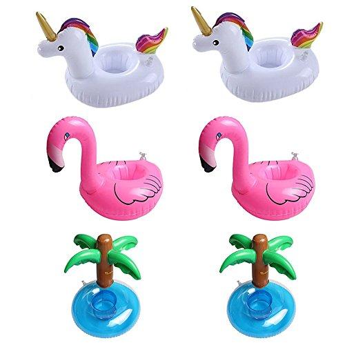 (Aufblasbare Getränke Becherhalter–yiy Einhorn Float Flamingo Getränkehalter Donut Fruit aufblasbar Pool Becherhalter, schwimmt Boote Pool schwimmt aufblasbar Floating Untersetzer für Pool Party Wasser Spaß für Pool Party)