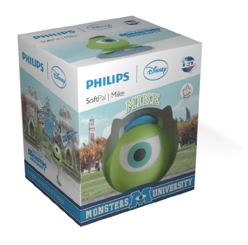 Image of Philips Disney Mike SoftPal Guided Night Light and Table Lamp - 1 x 1 W Integrated LED