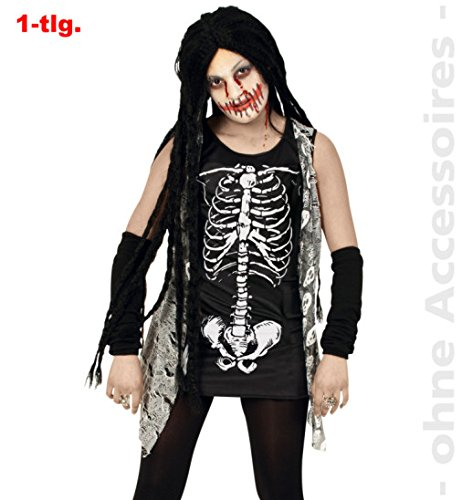 Zombie Girl 164 Halloween Oberteil Teenie Kostüm Horror Gespenst Spook für Mädchen