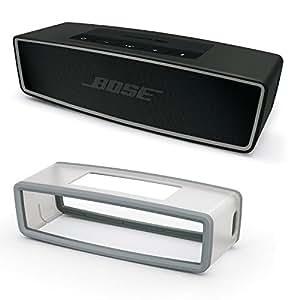 Bose SoundLink Mini Bluetooth Speaker II Carbon Bundle w/ Gray Soft Cover