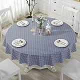 DangGL Runde Tischdecke,Wasserdichte Ölbeständige Anti-Verbrühungs-Gartentischdecke PVC-Plastiktischdecke (Farbe : E, größe : 135cm)