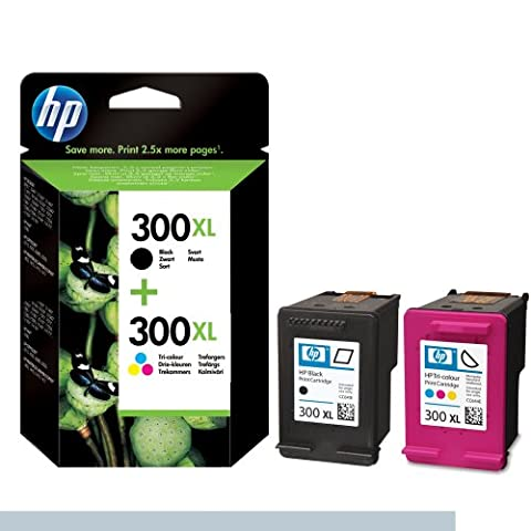 Hewlett Packard No.300xl Combo Original HP Tintenpatronen, 2-er Set mit 1 x schwarz/ farbige