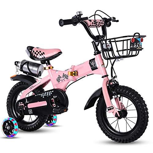YUMEIGE Kinderfahrräder Freestyle Jungen und Mädchen Fahrrad mit Stützrädern Kinder Fahrrad für 12 14 16 18 Zoll in 4 Farben für Kinder Radfahren 2-9 Jahre Kind