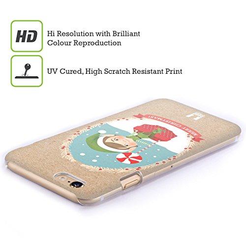 Head Case Designs Sacco Classici Del Natale 2 Cover Retro Rigida per Apple iPhone 3G / 3GS Dolcetti E Elfi