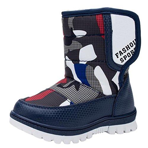 Y-BOA Chaussures Ski Bottines De Neige Fourrées Fourrure Mi-Mollet Épaise Chaude Antidérapante