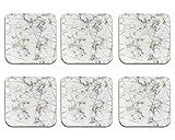 Homcomoda Sous-verres Sous-verres en pierre absorbants avec ensemble de sous-verres au design moderne Ensemble de 6