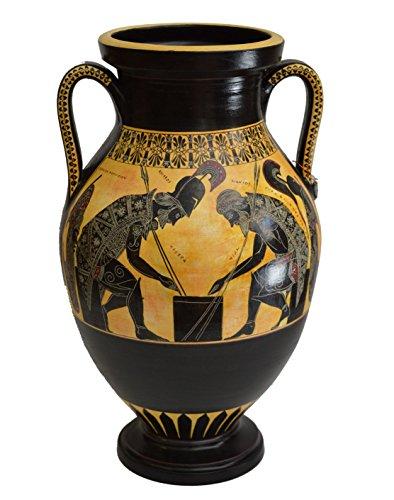 Unbekannt Achilles und Ajax-Exekias-Antike Griechische Vase, Amphore, Vatican Museum Replica - Griechische Vasen