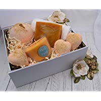 Christmas Prosecco & Clementine Luxury Gift Set. Bath Bombs,Soap,Candle.Handmade by Fizzy Fuzzy.