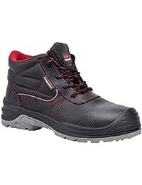 Paredes sm5040NE42Extreme–Zapatos de seguridad S3talla 42NEGRO/ROJO