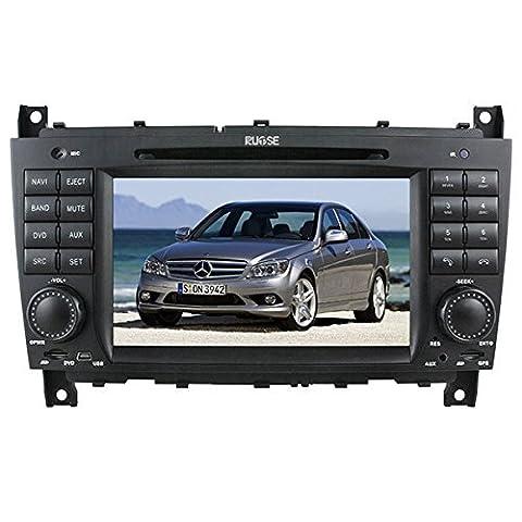 Rupse Neu Upgrade Auto GPS Navigation System Autoradio mit Bildschirm 7 Zoll HD Touchscreen mit Lenkradsteuerung Canbus Subwoofer Ausgang Bluetooth RDS PIP kostenlose Navigationssoftware und Rückfahrkamera