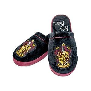 Pantuflas tipo alpargatas de peluche, Harry Potter, Gryffindor, color negro y rojo, multicolor, 38-40 7