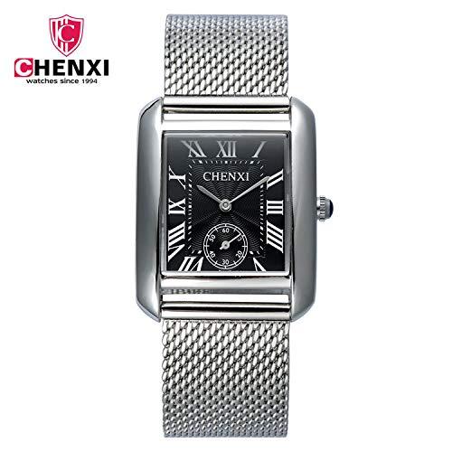 SJXIN Schöne und stilvolle Armbanduhr, CHENXI Herrenuhr Quadrat Quarzuhr Uhr Stahlgürtel 068T Modeuhren (Color : 1)