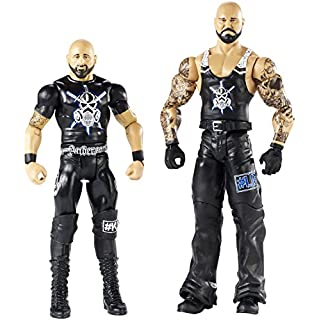 WWE FMF71 Luke Gallows and Karl Anderson, Boys, Colours/Styles May Vary, 2-Pack