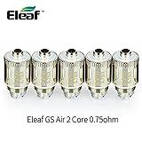 Eleaf Têtes d'atomiseur tête bobines EC Tête 0,75ohm pour Eleaf 2/Melo 2/Melo 3/Lemo 3avec 5pièces