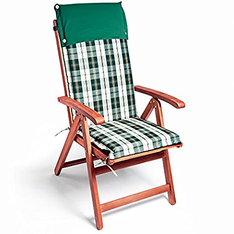 6x Garden Chair Cushion Seat Outdoor Seating - Colorful Water Repellent Padding Set of 6