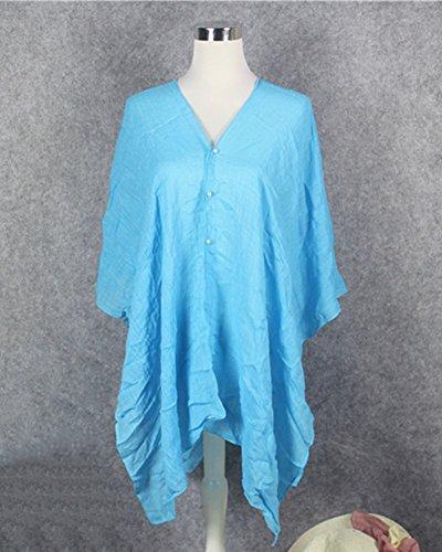 Damenschal Chiffon Stola Schal Für Kleider Abendkleid Pareos Sommer Schals Lange Weich Strandtücher Einfarbig Umschlagtücher Himmelblau