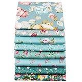 8pezzi di tessuto in cotone di alta qualità, 40cm x 50cm, per trapunte, cuscini, patchwork, materiale da cucito, ritagli per album, vestito per bambole