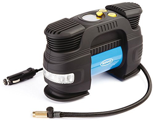 Ring Automotive RAC830 Compressore Digitale Rapid 12V, con Luce LED