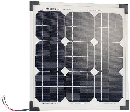 revolt Mobiles Solarmodul: Mobiles Solarpanel mit monokristallinen Solarzellen, 20 Watt (Solarpanel für Gartenbeleuchtung)