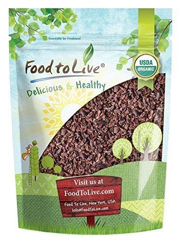 Bio Kakao Nibs durch Food to Live (Nicht-GVO, Unsweetened, Masse) — 1 Pfund