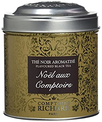 Comptoirs Richard Thé Noir NoÃ«l aux Comptoirs Boîte Métal Vrac 100 g