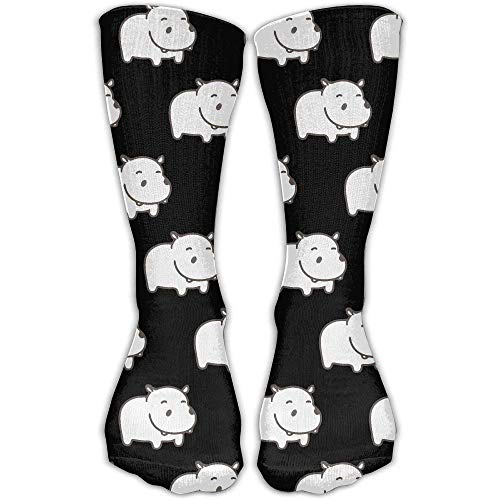 (Baby Hippo Pattern Novelty Cotton Crew Socks Fashion Ankle Dress Socks for Men&Women)