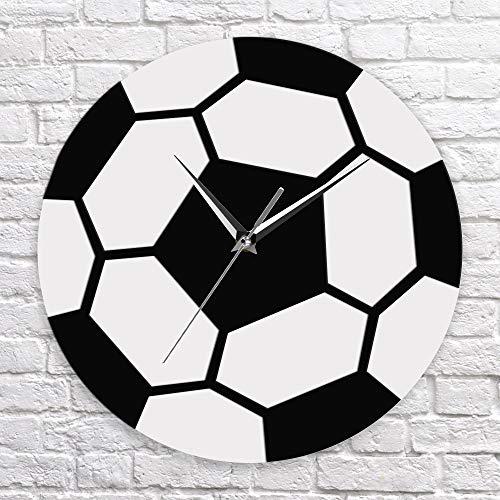 immer Fußball Zeit Fußball Schwarz Und Weiß Einfache Moderne Sport Zimmer Fußball Ball Wand Dekor Fußball Fans Schlafzimmer Kinder Zimmer Hotel Dekoration ()