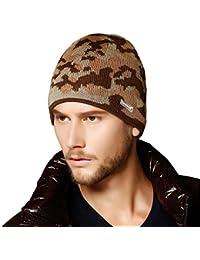 Kenmont Hommes Homme Hiver Oreillettes Camouflage ski chapeau Outdoor laine Knit Cap bonnet