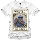 E1SYNDICATE T-SHIRT COOKIE MONSTER WANTED MUGSHOT SUPREME GANGSTER S-XXL