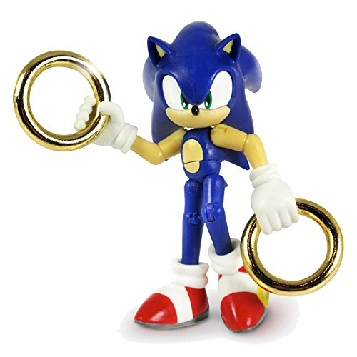 Image of Sonic the Hedgehog SONIC3INCH 3-Inch Sonic & Gold Rings Action Figure