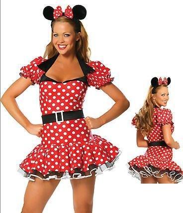 Gorgeous Rollenspiele Mickey Mickey Mouse -Spiel Halloween-Kostüme Uniformen Diskothek ds Sängern aus dem Verkehr (Weibliche Mickey Mouse Kostüme)