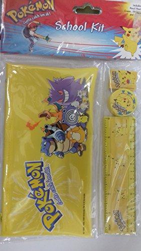 Pokemon Schreib-Utensilien set - Pokemon Schulset - Pokemon Stiftemappe Pikachu