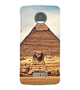 Giza Pyramids 3D Hard Polycarbonate Designer Back Case Cover for Motorola Moto Z :: Motorola Moto Z Droid in USA