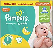 Pampers New Baby-Dry Diapers, Size 1, Newborn, 2-5kg