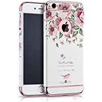 Eleoption Apple iPhone per cellulare creatività maneggevole sfoderabile Case 3d Relief pittura Slim PC Hard Back Case Cover Blume 3 iphone 6/6s Plus 5,5