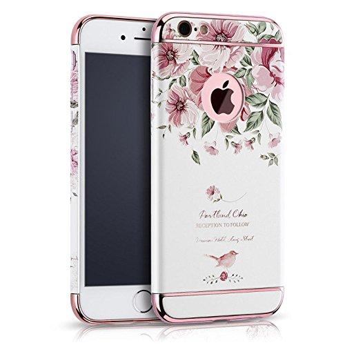 ele ELEOPTION iPhone Schutzhülle Kreativität handlich abziehbar case 3D Reliefmalerei Slim PC Hard Back Case Cover (iPhone 6/6S 4,7 Zoll, Blume 3) (Iphone Hard Back)